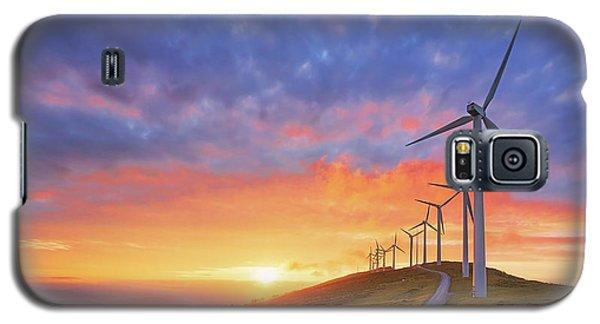 wind turbines in Oiz eolic park Galaxy S5 Case