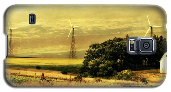 Galaxy S5 Case featuring the photograph Wind Turbines by Julie Hamilton