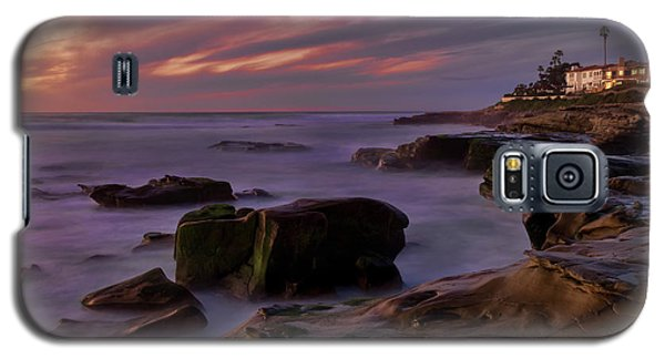 Galaxy S5 Case featuring the photograph Windansea Beach At Dusk by Eddie Yerkish