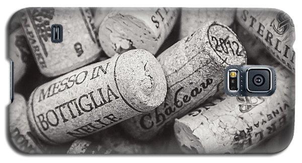 Wine Corks Black And White Galaxy S5 Case by April Reppucci