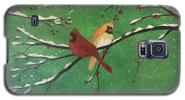Winter Cardinals Galaxy S5 Case