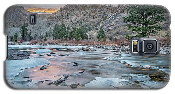 winter dusk over Poudre Canyon Galaxy S5 Case