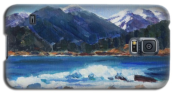 Galaxy S5 Case featuring the painting Winter Mountains Alaska by Yulia Kazansky