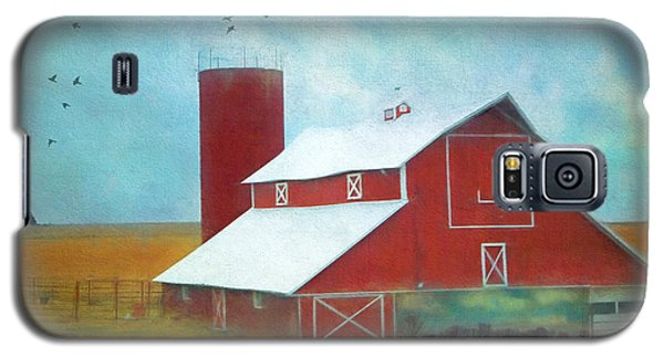 Winter Red Barn Galaxy S5 Case