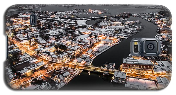 Galaxy S5 Case featuring the photograph Winter Twilight In Mystic Connecticut by Petr Hejl