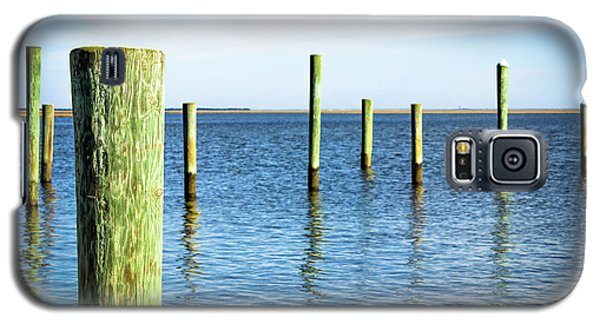 Galaxy S5 Case featuring the photograph Wood Pilings by Colleen Kammerer