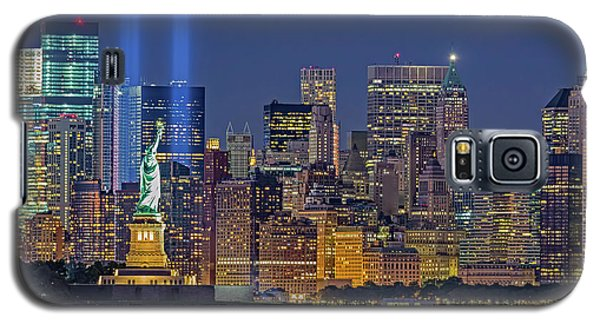 Galaxy S5 Case featuring the photograph World Trade Center Wtc Tribute In Light Memorial II by Susan Candelario