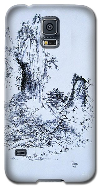 Galaxy S5 Case featuring the painting Yama No Fukei by Roberto Prusso