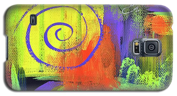 Yellow Abstract Galaxy S5 Case