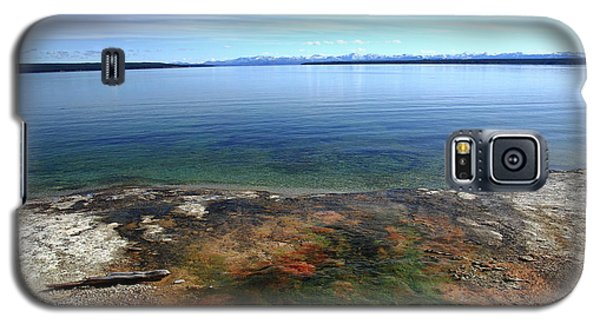 Galaxy S5 Case featuring the photograph Yellowstone Lake Colors by Frank Romeo