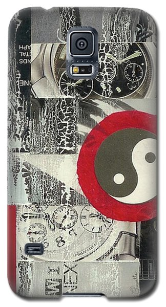 Galaxy S5 Case featuring the mixed media Ying Yang by Desiree Paquette