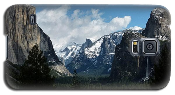 Yosemite Valley View In Winter Galaxy S5 Case