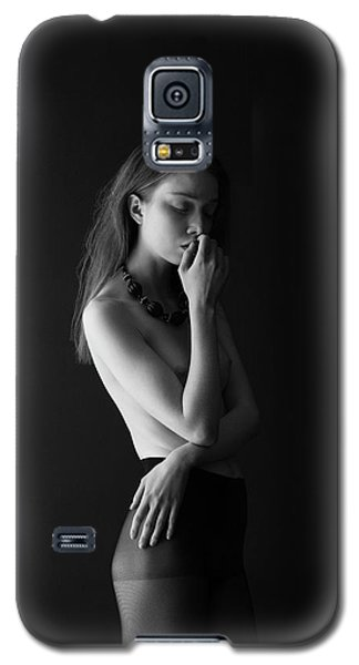 Young Woman In Pantyhose Galaxy S5 Case
