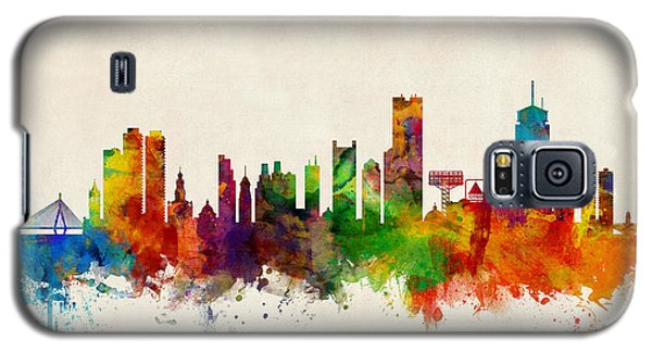 Boston Massachusetts Skyline Galaxy S5 Case by Michael Tompsett