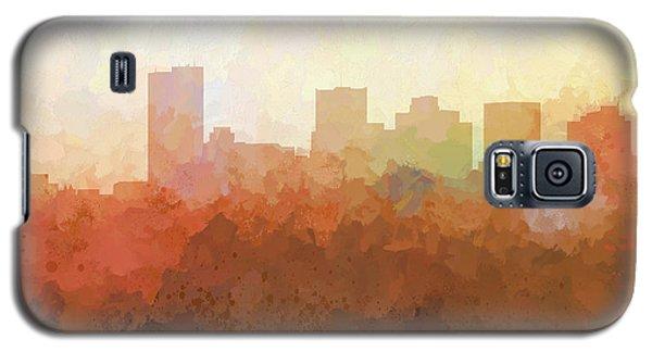 Galaxy S5 Case featuring the digital art Phoenix Arizona Skyline by Marlene Watson