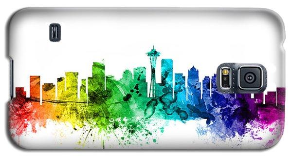 Seattle Washington Skyline Galaxy S5 Case by Michael Tompsett