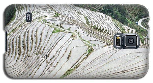Terrace Fields Scenery In Spring Galaxy S5 Case