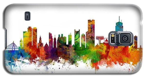 Boston Galaxy S5 Case - Boston Massachusetts Skyline by Michael Tompsett