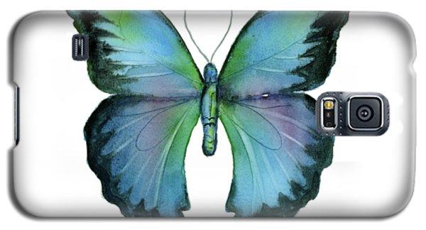 12 Blue Emperor Butterfly Galaxy S5 Case