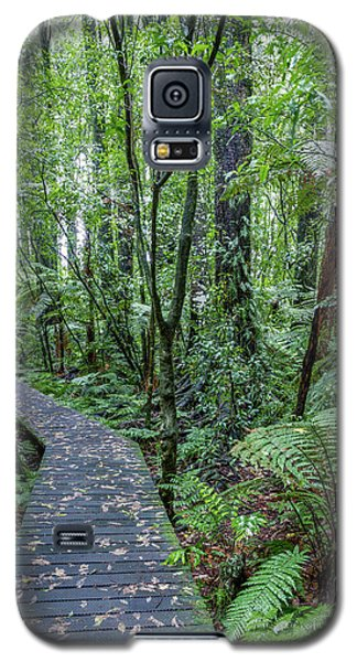 Galaxy S5 Case featuring the photograph Forest Boardwalk by Les Cunliffe
