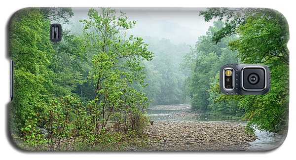 Galaxy S5 Case featuring the photograph Williams River Summer Mist by Thomas R Fletcher