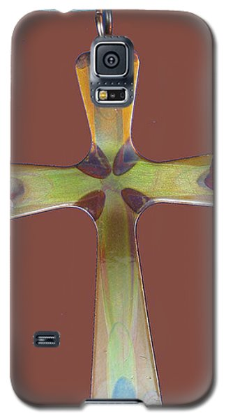 1282a Golden Cross Galaxy S5 Case