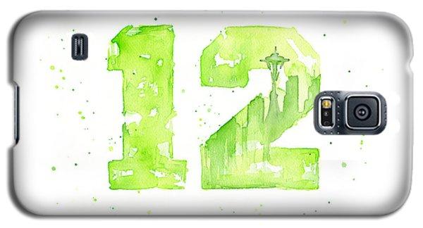 Seattle Galaxy S5 Case - 12th Man Seahawks Art Go Hawks by Olga Shvartsur
