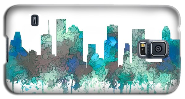 Galaxy S5 Case featuring the digital art Houston Texas Skyline by Marlene Watson