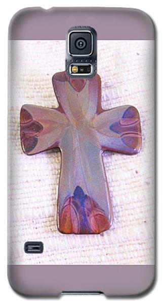 1378 Small Cross Pendant Galaxy S5 Case