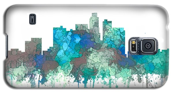Galaxy S5 Case featuring the digital art Los Angeles California Skyline by Marlene Watson