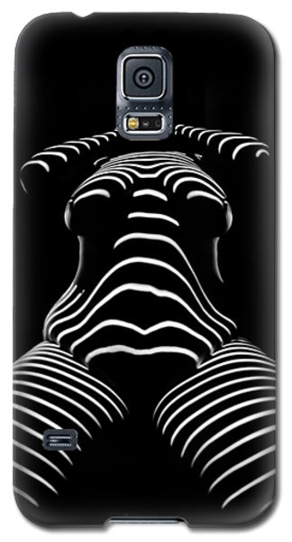 1422-tnd Zebra Woman Big Girl Striped Woman Black And White Abstract Photo By Chris Maher Galaxy S5 Case