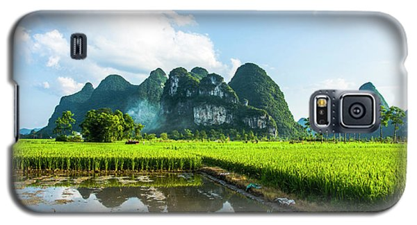 The Beautiful Karst Rural Scenery Galaxy S5 Case