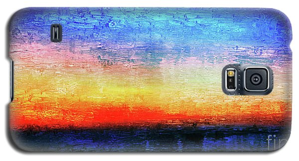 15a Abstract Seascape Sunrise Painting Digital Galaxy S5 Case