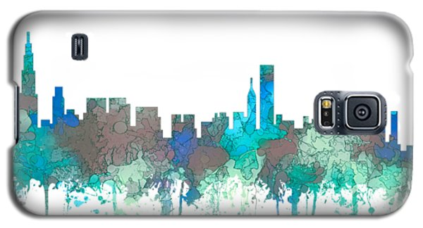 Galaxy S5 Case featuring the digital art Chicago Illinois Skyline by Marlene Watson