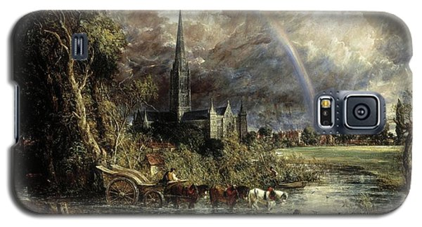 Salisbury Cathedral From The Meadows Galaxy S5 Case
