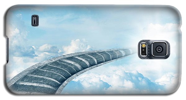 Galaxy S5 Case featuring the digital art Stairway To Heaven by Les Cunliffe