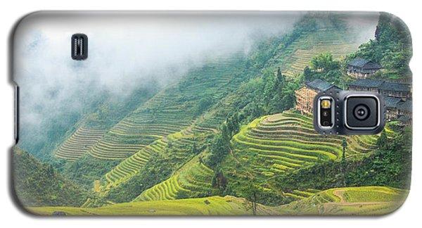 Terrace Fields Scenery In Autumn Galaxy S5 Case