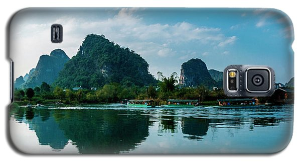 The Karst Mountains And River Scenery Galaxy S5 Case