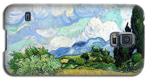 Wheat Field With Cypresses Galaxy S5 Case