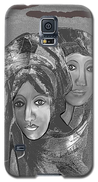 Galaxy S5 Case featuring the digital art 1667 - The Sisters by Irmgard Schoendorf Welch