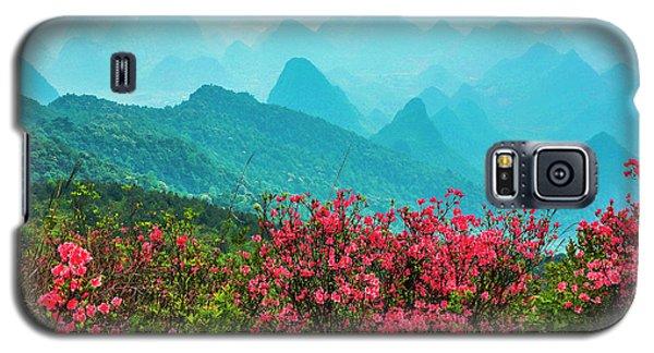 Blossoming Azalea And Mountain Scenery Galaxy S5 Case