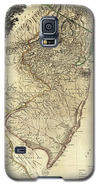 1778 Nj Map Galaxy S5 Case by Mark Miller