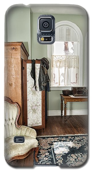 Galaxy S5 Case featuring the photograph 1800 Closet And Chair by Linda Constant