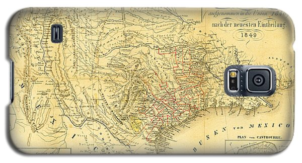 1849 Texas Map Galaxy S5 Case