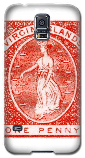 Galaxy S5 Case featuring the painting 1858 Virgin Islands Stamp by Historic Image