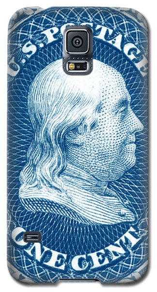 Galaxy S5 Case featuring the painting 1861 Benjamin Franklin Stamp by Historic Image