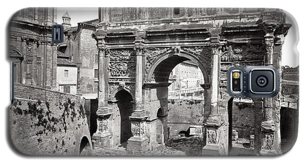 Galaxy S5 Case featuring the photograph 1870 Arch Of Septimius Severus Rome Italy by Historic Image