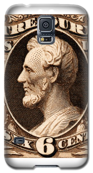 Galaxy S5 Case featuring the painting 1875 Abraham Lincoln Treasury Department Stamp by Historic Image