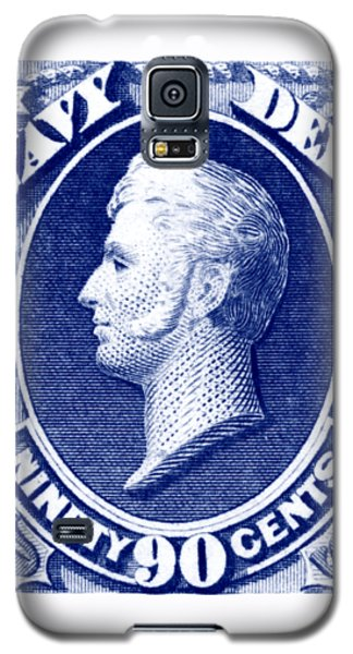 Galaxy S5 Case featuring the painting 1875 Commodore Perry Us Navy Department Stamp by Historic Image