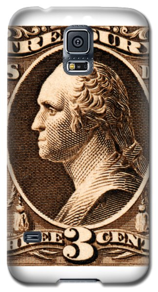 Galaxy S5 Case featuring the painting 1875 George Washington Treasury Department Stamp by Historic Image